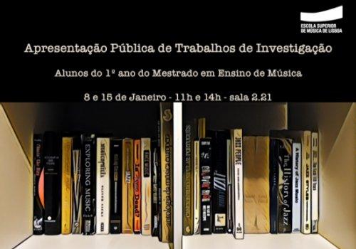 Apresentação Pública de Trabalhos de Investigação (2/2)
